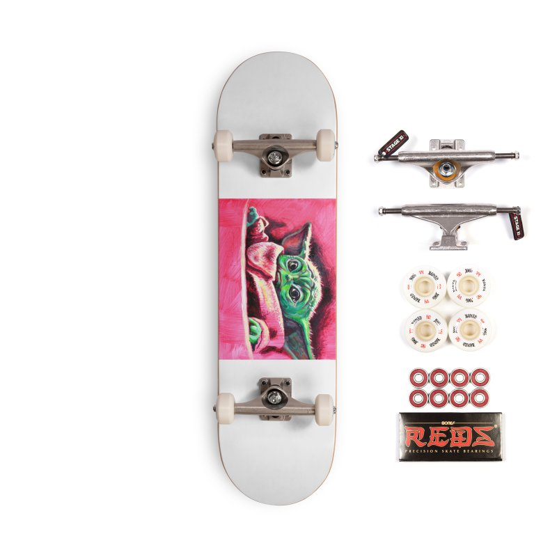 baby yoda Accessories Complete - Pro Skateboard by paintings by Seamus Wray