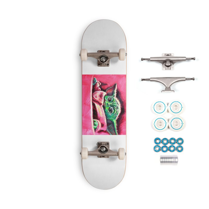 baby yoda Accessories Complete - Basic Skateboard by paintings by Seamus Wray