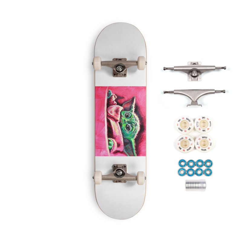 baby yoda Accessories Complete - Premium Skateboard by paintings by Seamus Wray