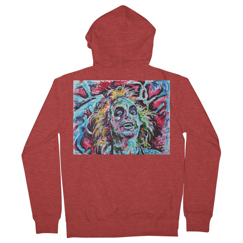 beetlejuice Women's French Terry Zip-Up Hoody by paintings by Seamus Wray