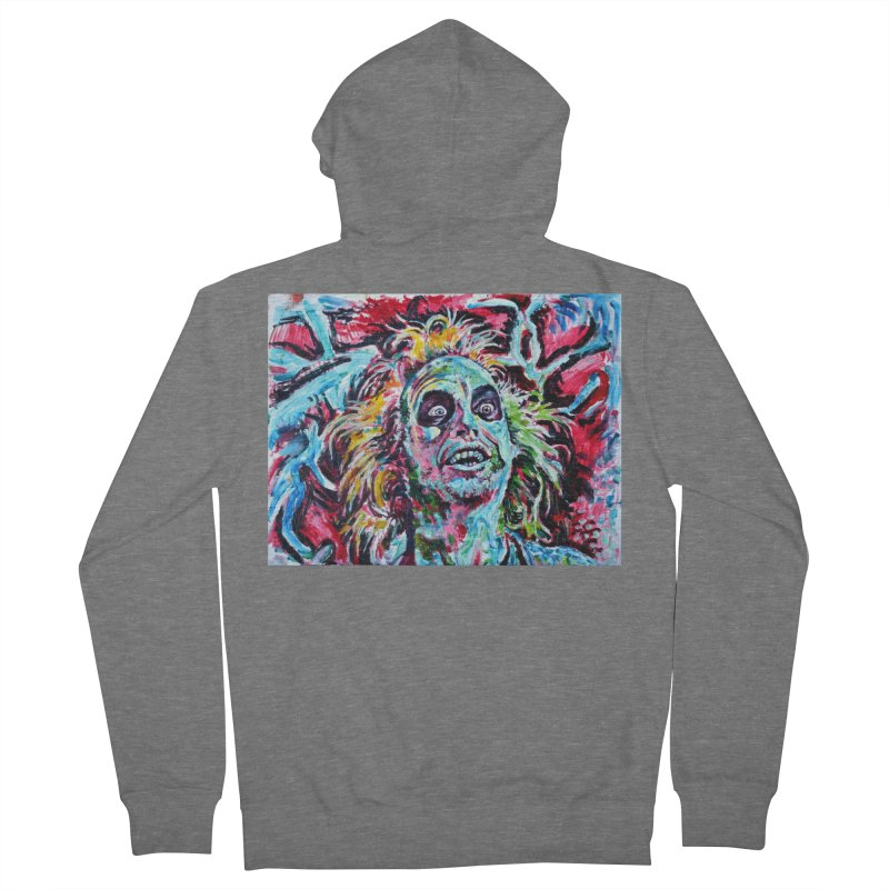 beetlejuice Men's French Terry Zip-Up Hoody by paintings by Seamus Wray