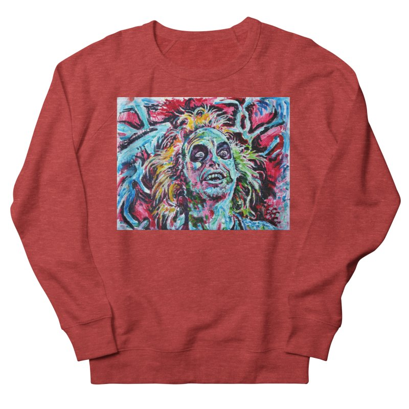beetlejuice Men's French Terry Sweatshirt by paintings by Seamus Wray