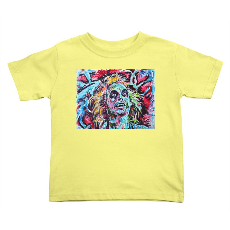 beetlejuice Kids Toddler T-Shirt by paintings by Seamus Wray