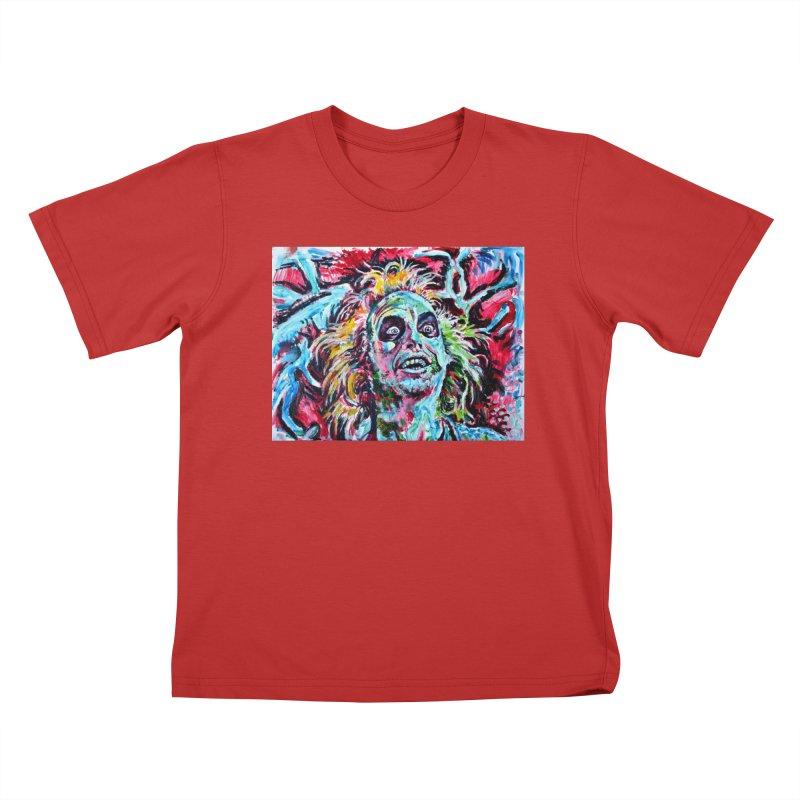 beetlejuice Kids T-Shirt by paintings by Seamus Wray