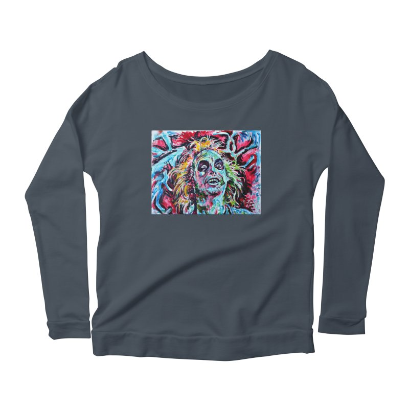beetlejuice Women's Scoop Neck Longsleeve T-Shirt by paintings by Seamus Wray