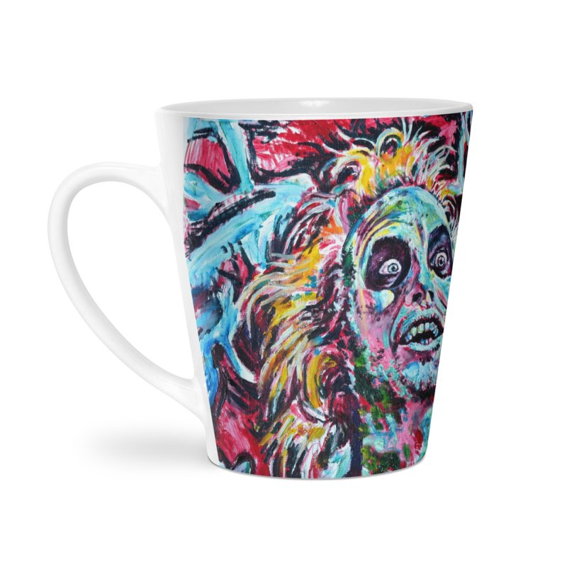 beetlejuice Accessories Latte Mug by paintings by Seamus Wray