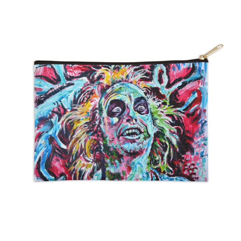 beetlejuice Accessories Zip Pouch by paintings by Seamus Wray
