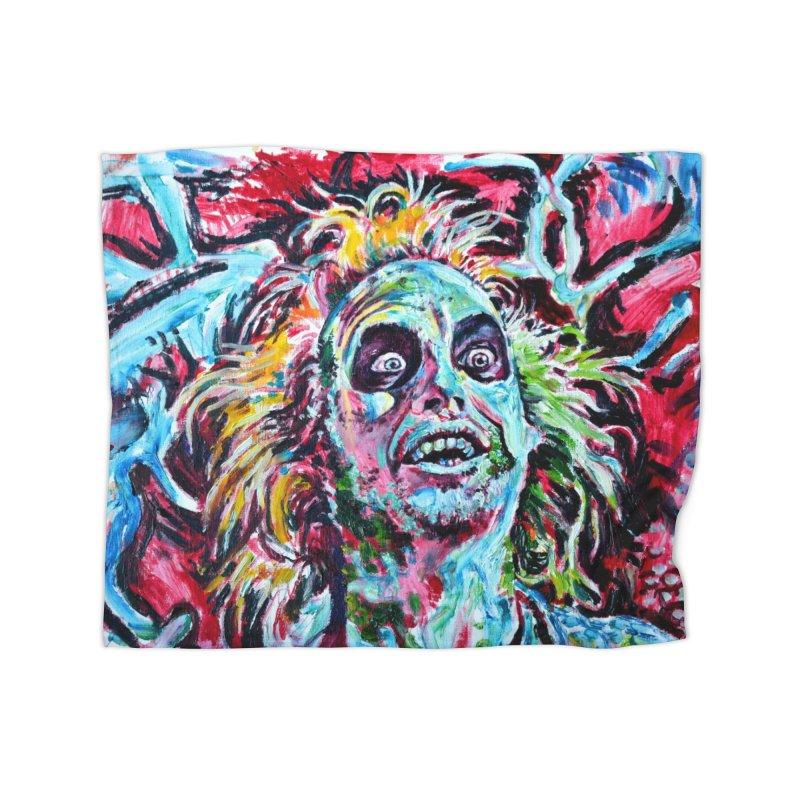 beetlejuice Home Fleece Blanket Blanket by paintings by Seamus Wray