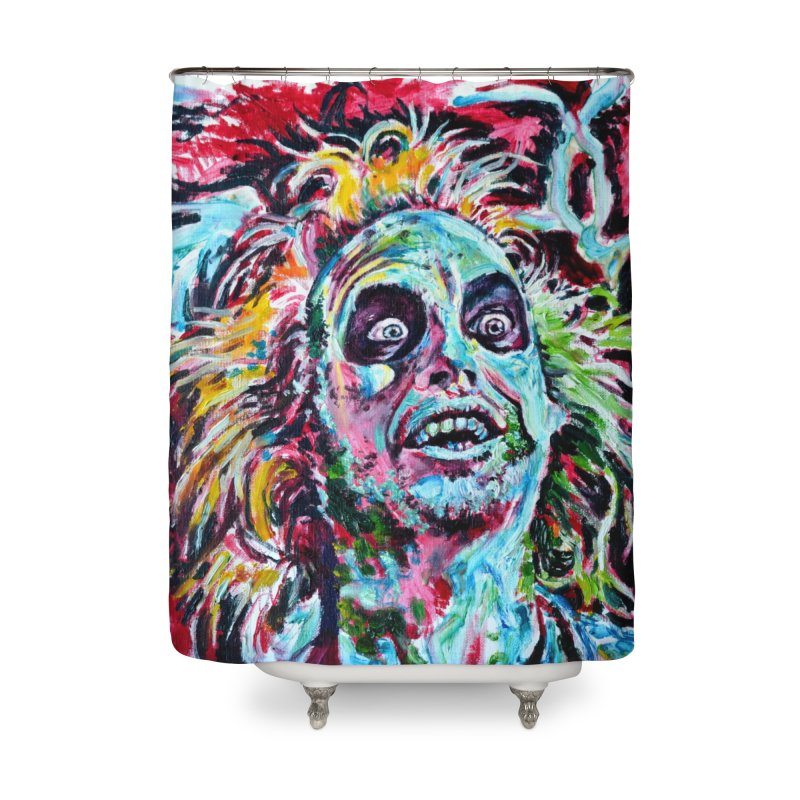 beetlejuice Home Shower Curtain by paintings by Seamus Wray