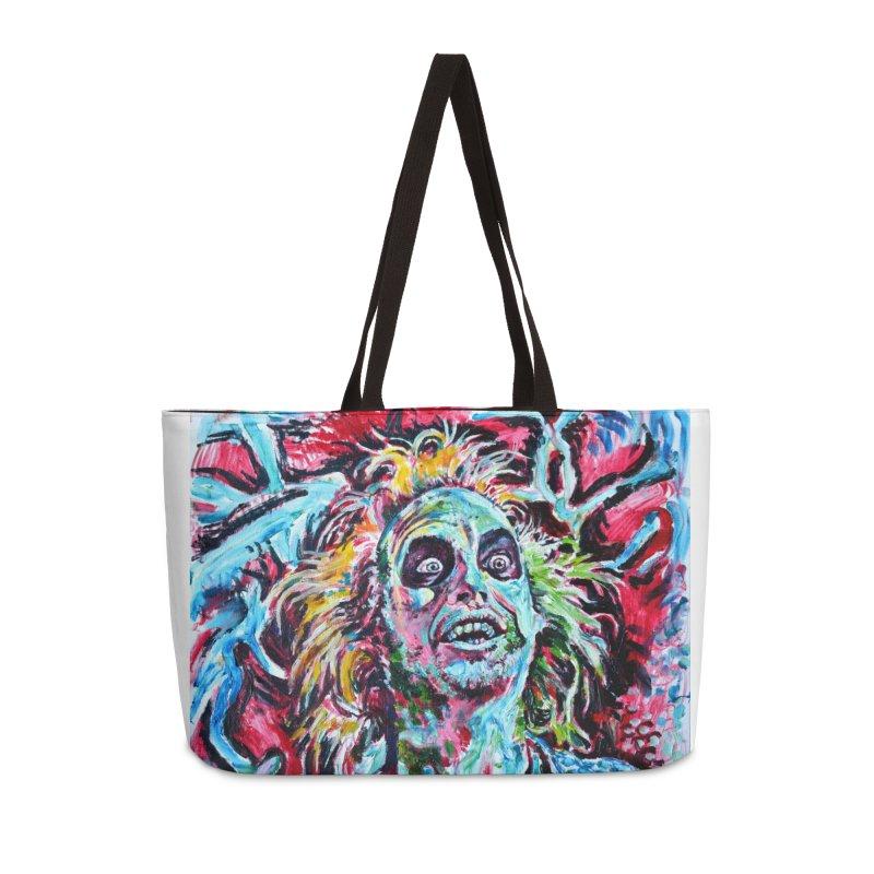 beetlejuice Accessories Weekender Bag Bag by paintings by Seamus Wray