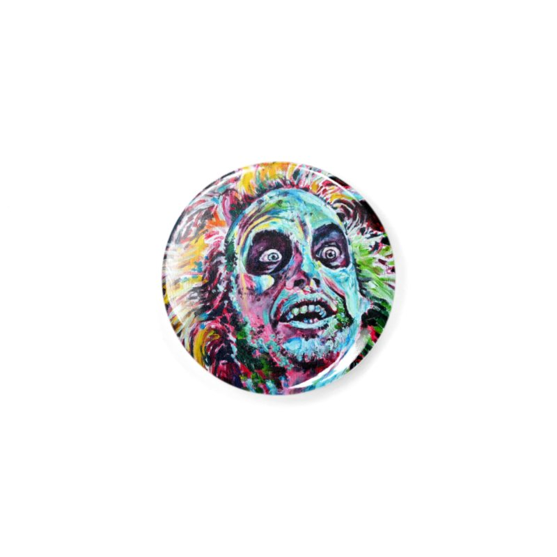 beetlejuice Accessories Button by paintings by Seamus Wray