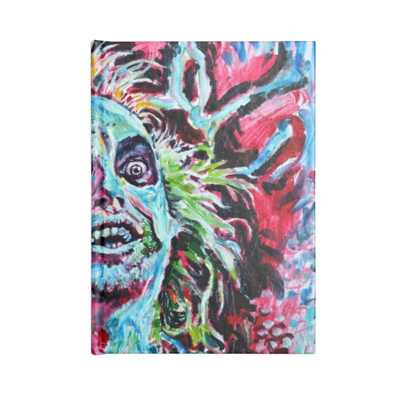 beetlejuice Accessories Lined Journal Notebook by paintings by Seamus Wray