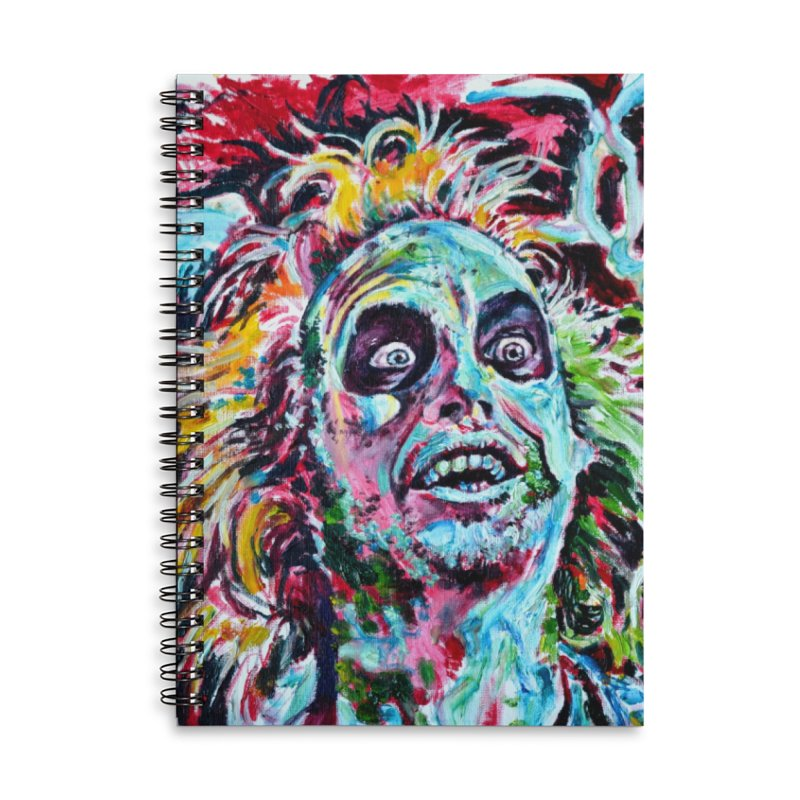 beetlejuice Accessories Lined Spiral Notebook by paintings by Seamus Wray