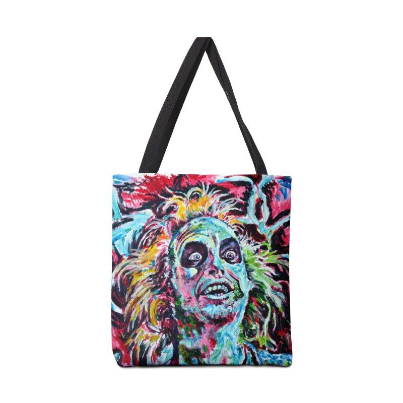 beetlejuice Accessories Tote Bag Bag by paintings by Seamus Wray