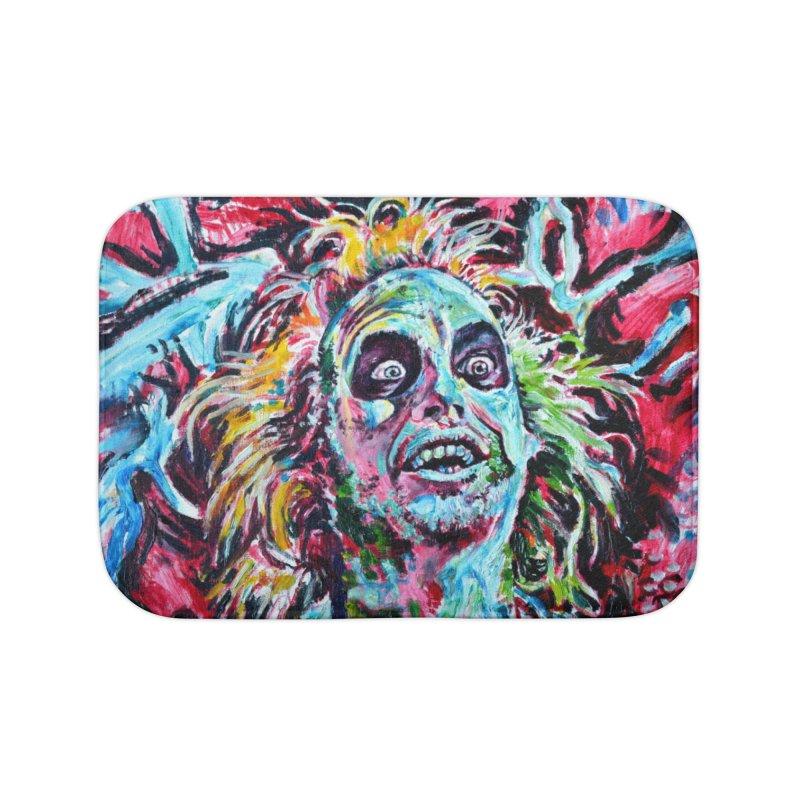 beetlejuice Home Bath Mat by paintings by Seamus Wray