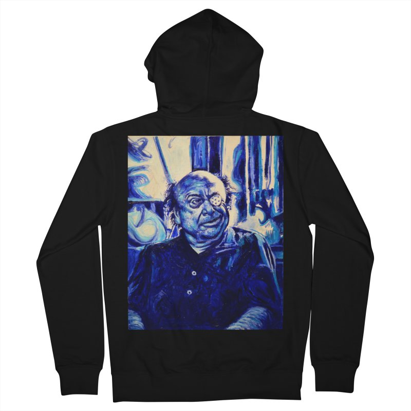 cracker eye Men's French Terry Zip-Up Hoody by paintings by Seamus Wray