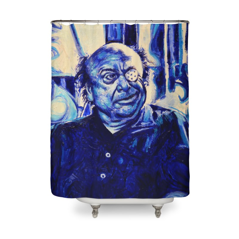 cracker eye Home Shower Curtain by paintings by Seamus Wray