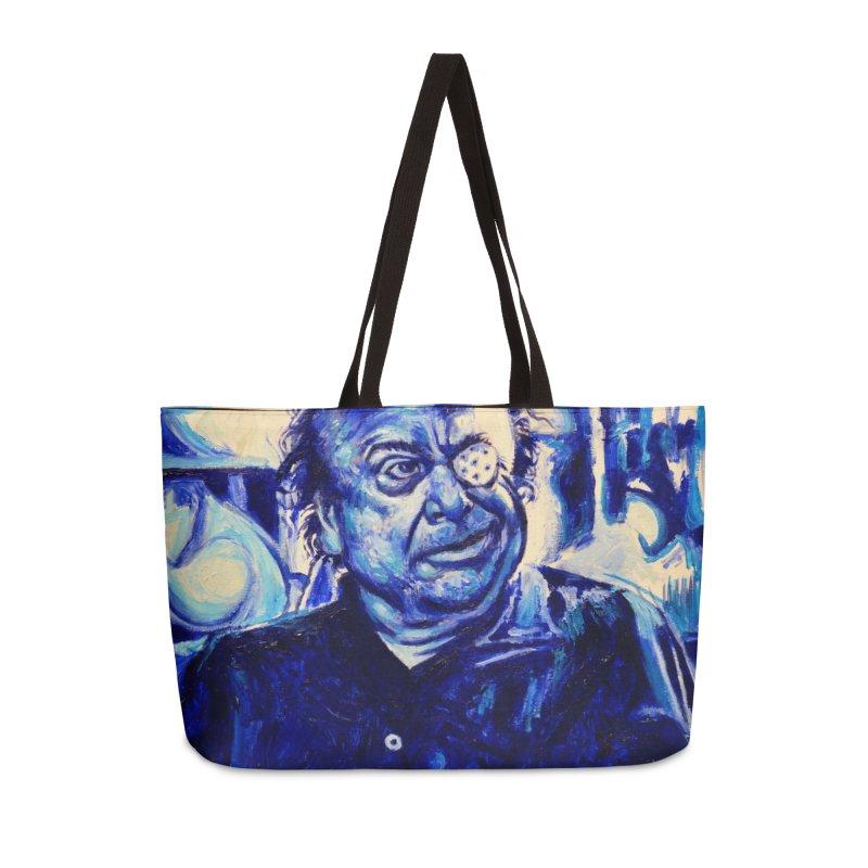 cracker eye Accessories Weekender Bag Bag by paintings by Seamus Wray