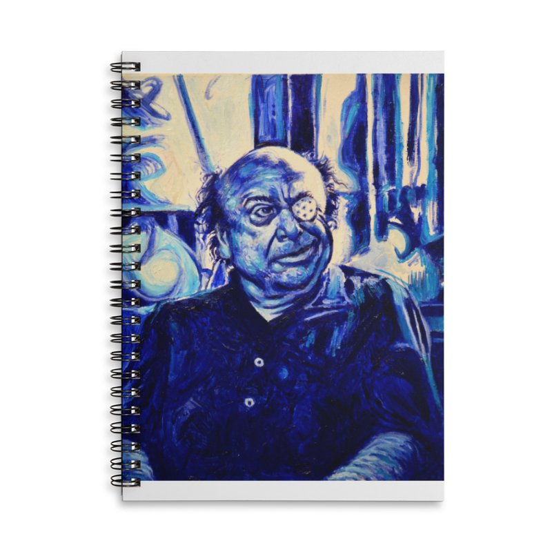 cracker eye Accessories Lined Spiral Notebook by paintings by Seamus Wray