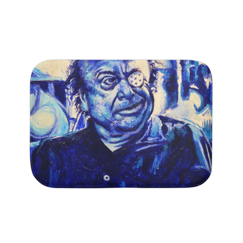 cracker eye Home Bath Mat by paintings by Seamus Wray