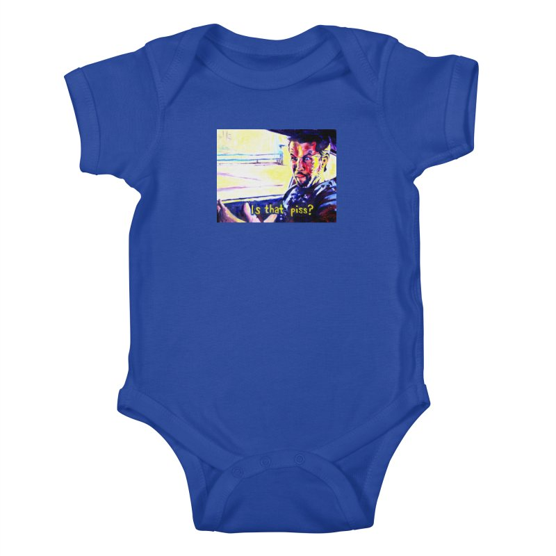 is that piss Kids Baby Bodysuit by paintings by Seamus Wray