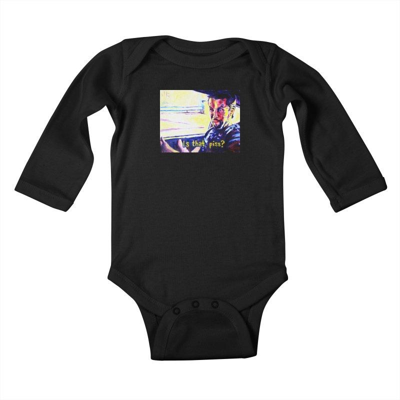 is that piss Kids Baby Longsleeve Bodysuit by paintings by Seamus Wray