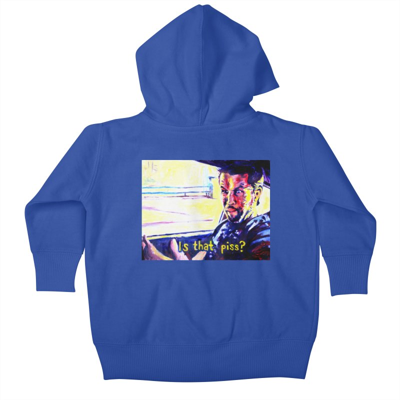 is that piss Kids Baby Zip-Up Hoody by paintings by Seamus Wray