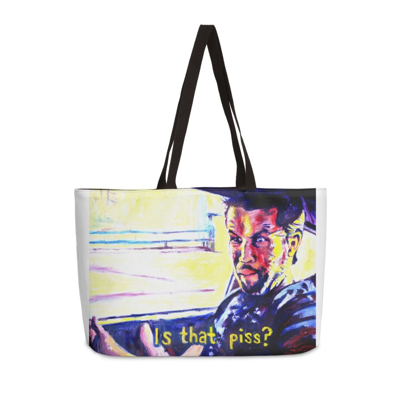is that piss Accessories Weekender Bag Bag by paintings by Seamus Wray