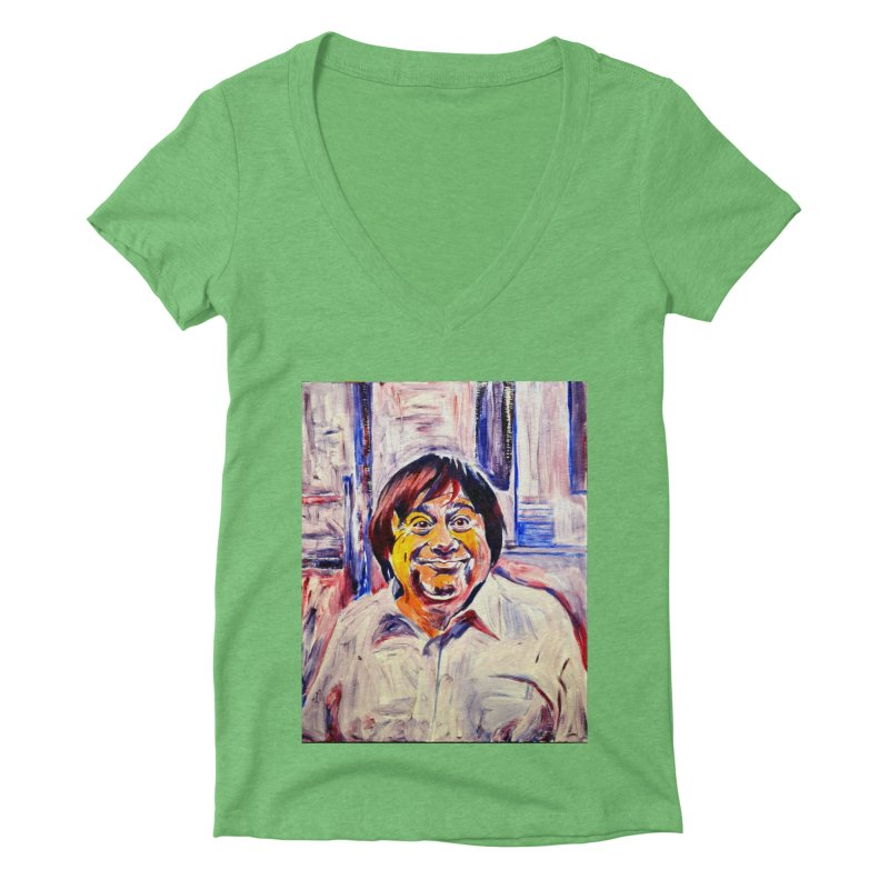 19 Women's Deep V-Neck V-Neck by paintings by Seamus Wray