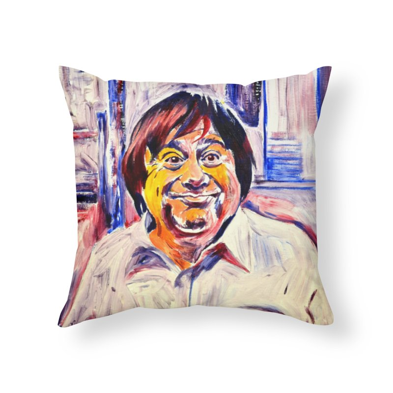 19 Home Throw Pillow by paintings by Seamus Wray