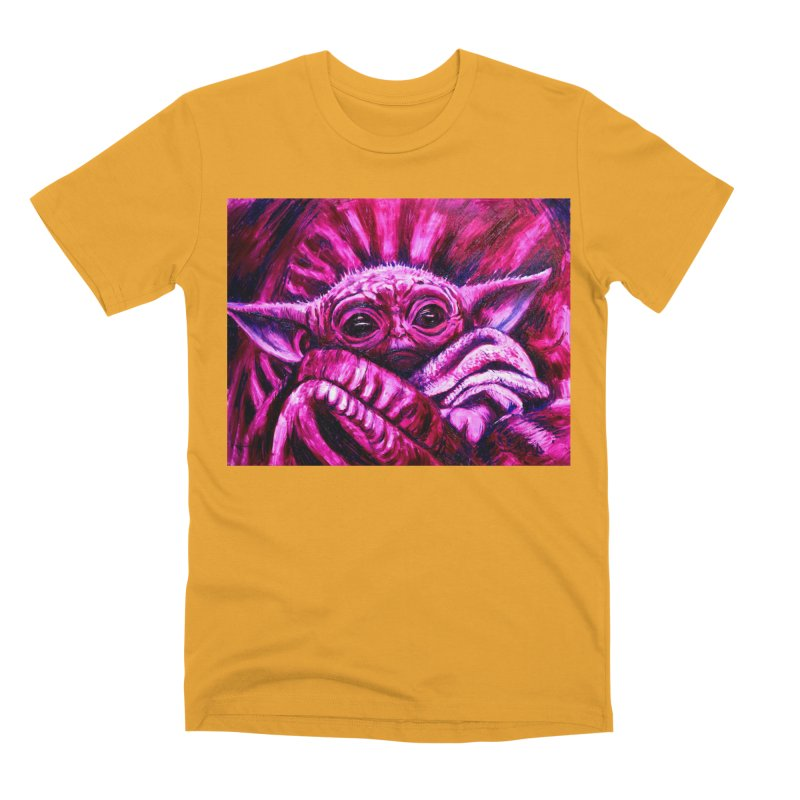 pink yoda Men's Premium T-Shirt by paintings by Seamus Wray