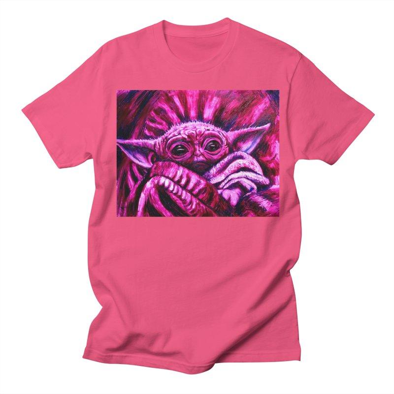 pink yoda Women's Regular Unisex T-Shirt by paintings by Seamus Wray
