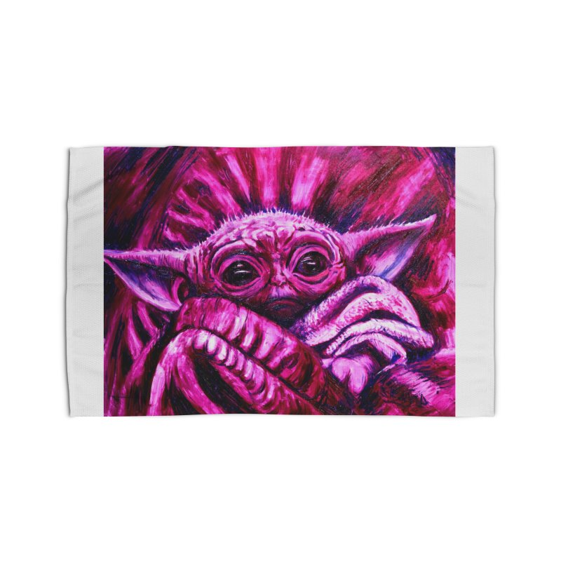 pink yoda Home Rug by paintings by Seamus Wray