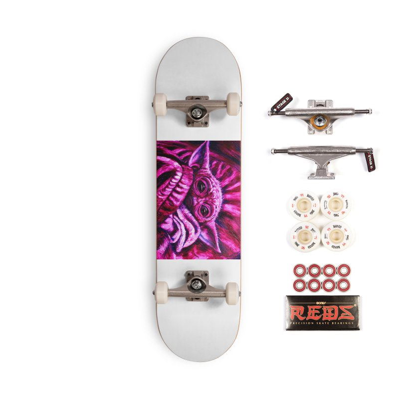pink yoda Accessories Complete - Pro Skateboard by paintings by Seamus Wray