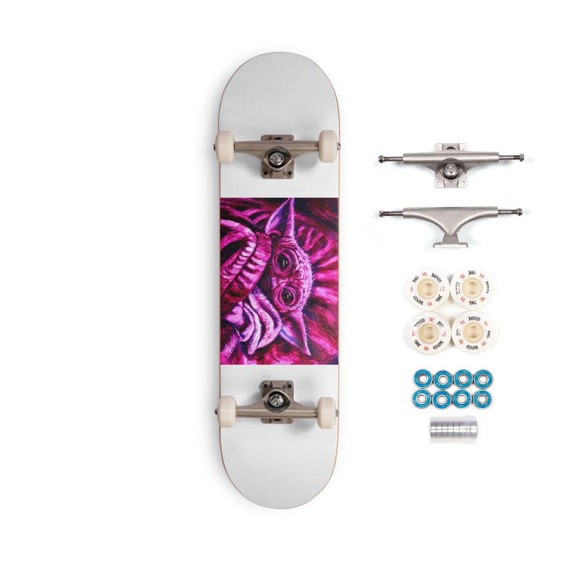 pink yoda Accessories Complete - Premium Skateboard by paintings by Seamus Wray