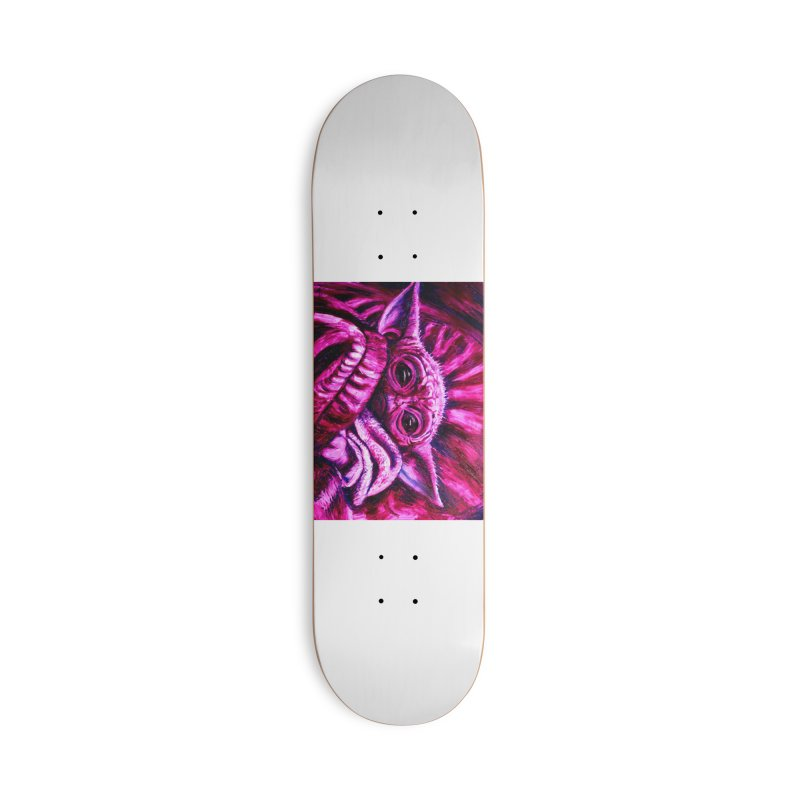 pink yoda Accessories Deck Only Skateboard by paintings by Seamus Wray