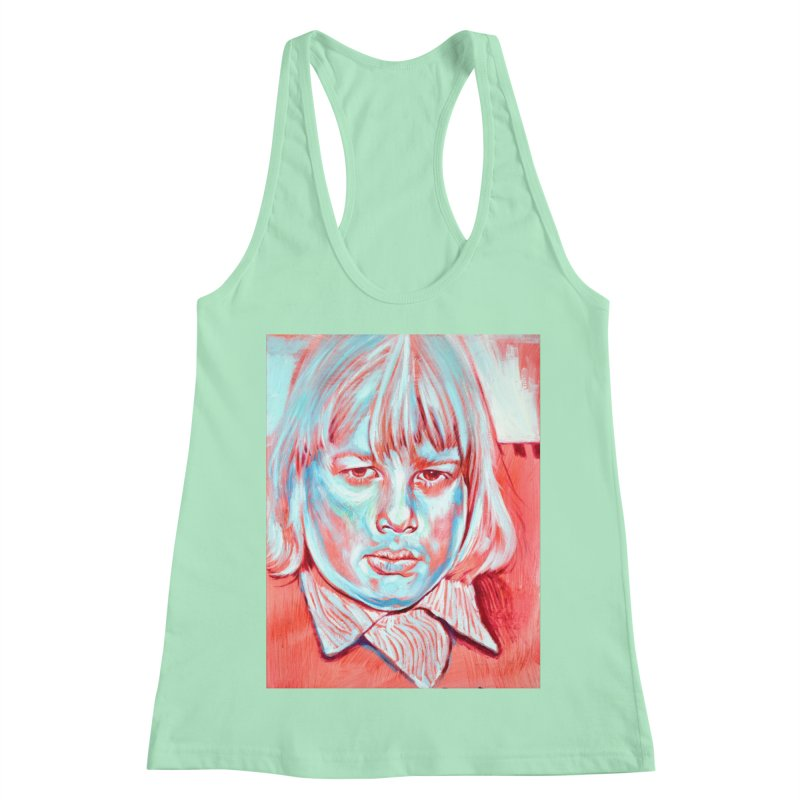boris johnson Women's Racerback Tank by paintings by Seamus Wray