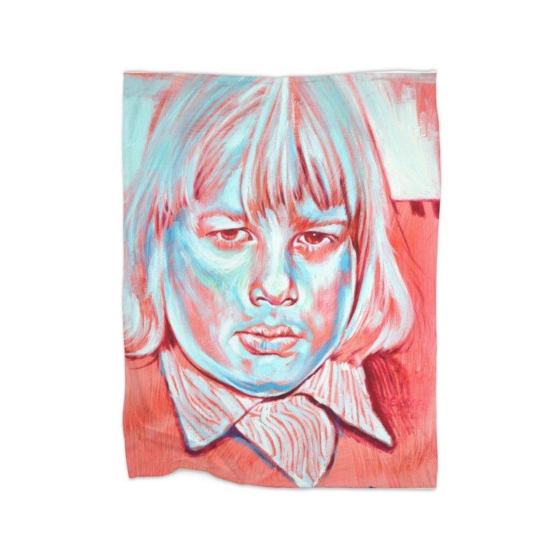 boris johnson Home Fleece Blanket Blanket by paintings by Seamus Wray