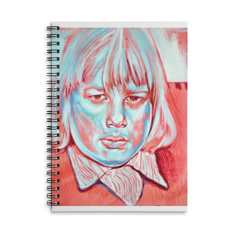 boris johnson Accessories Lined Spiral Notebook by paintings by Seamus Wray