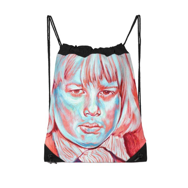 boris johnson Accessories Drawstring Bag Bag by paintings by Seamus Wray