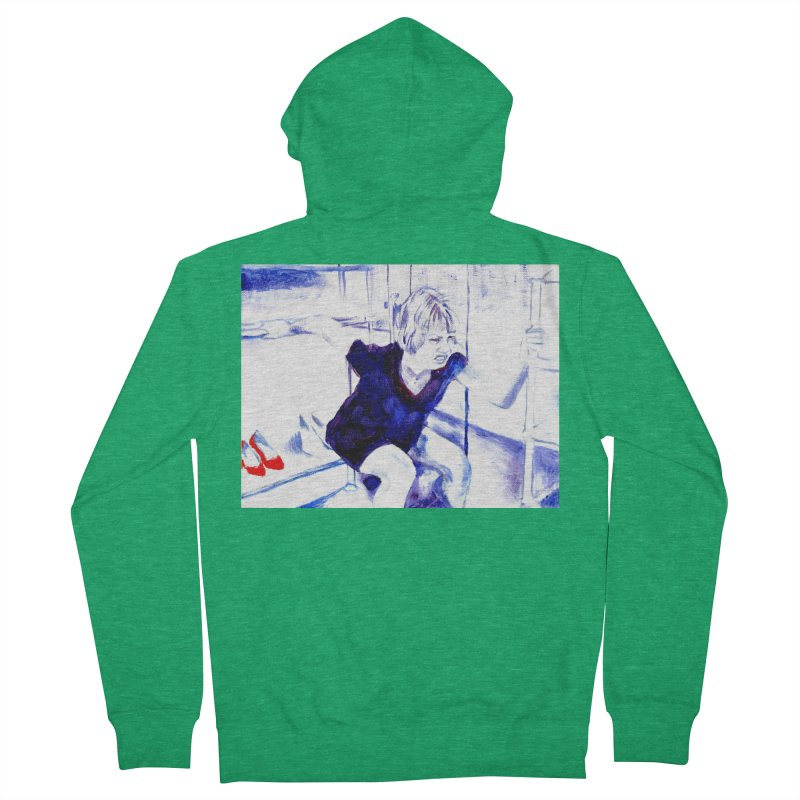 shoes Women's French Terry Zip-Up Hoody by paintings by Seamus Wray
