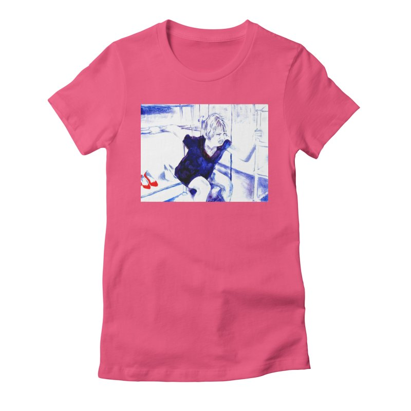 shoes Women's Fitted T-Shirt by paintings by Seamus Wray