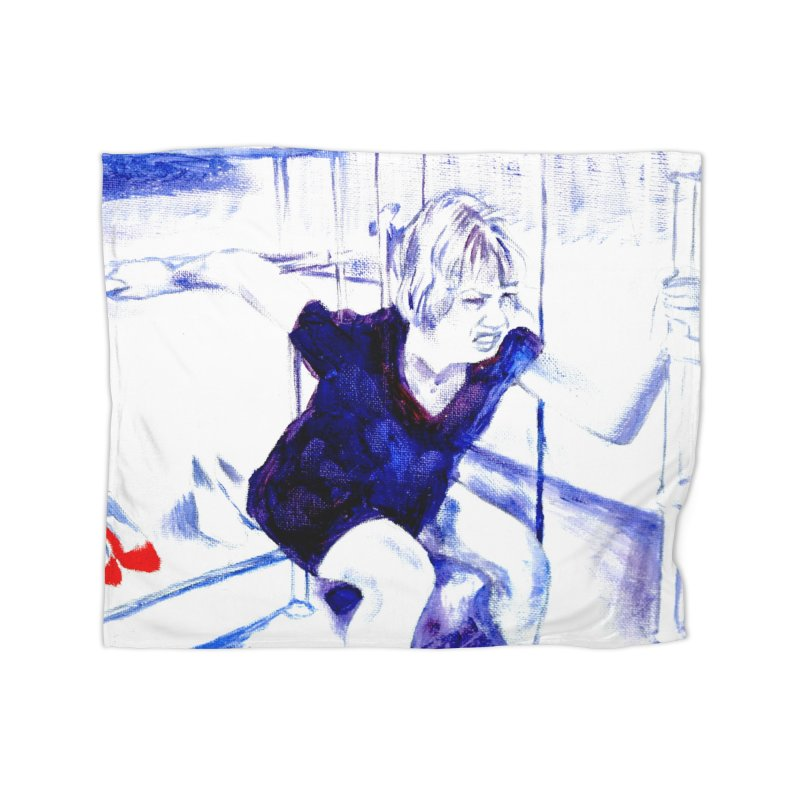 shoes Home Fleece Blanket Blanket by paintings by Seamus Wray