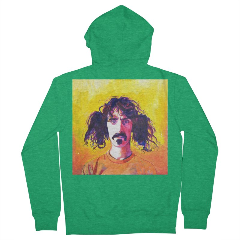 zappa Men's French Terry Zip-Up Hoody by paintings by Seamus Wray