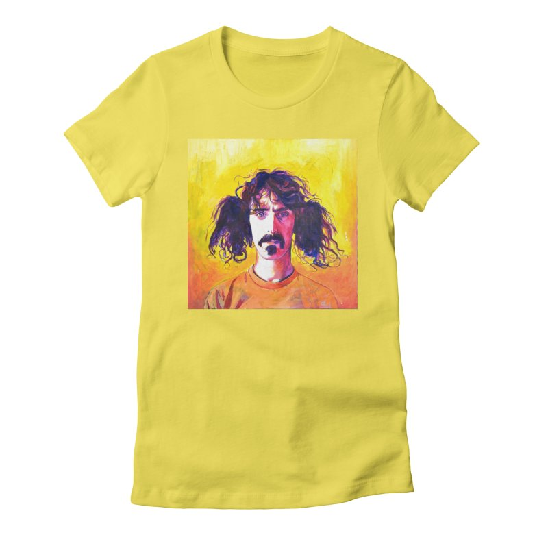 zappa Women's Fitted T-Shirt by paintings by Seamus Wray