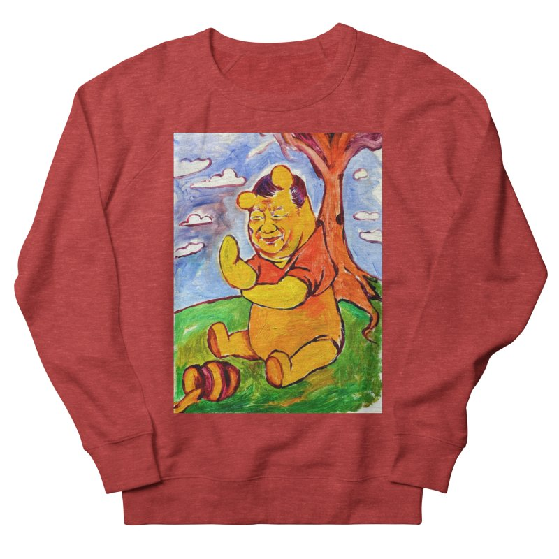 pooh Women's French Terry Sweatshirt by paintings by Seamus Wray