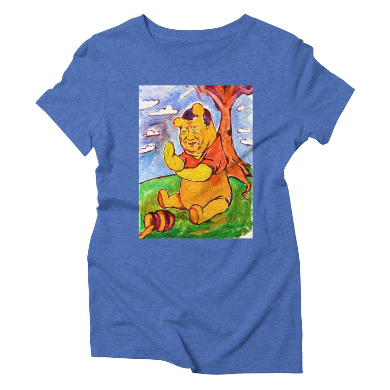 pooh Women's Triblend T-Shirt by paintings by Seamus Wray