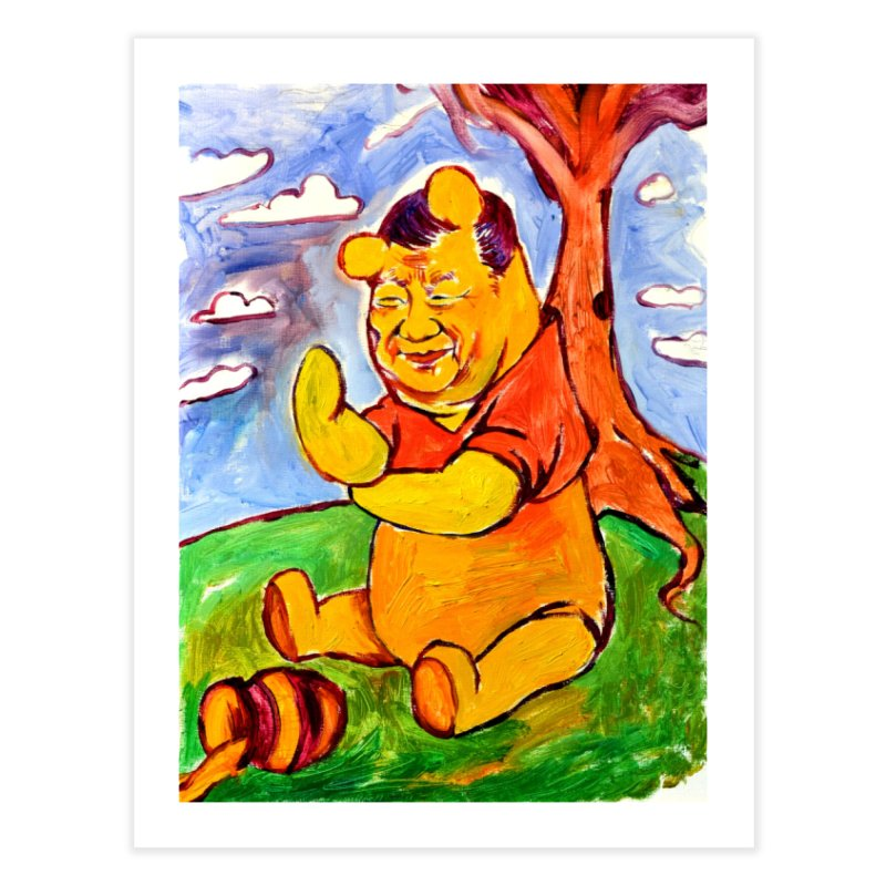 pooh Home Fine Art Print by paintings by Seamus Wray