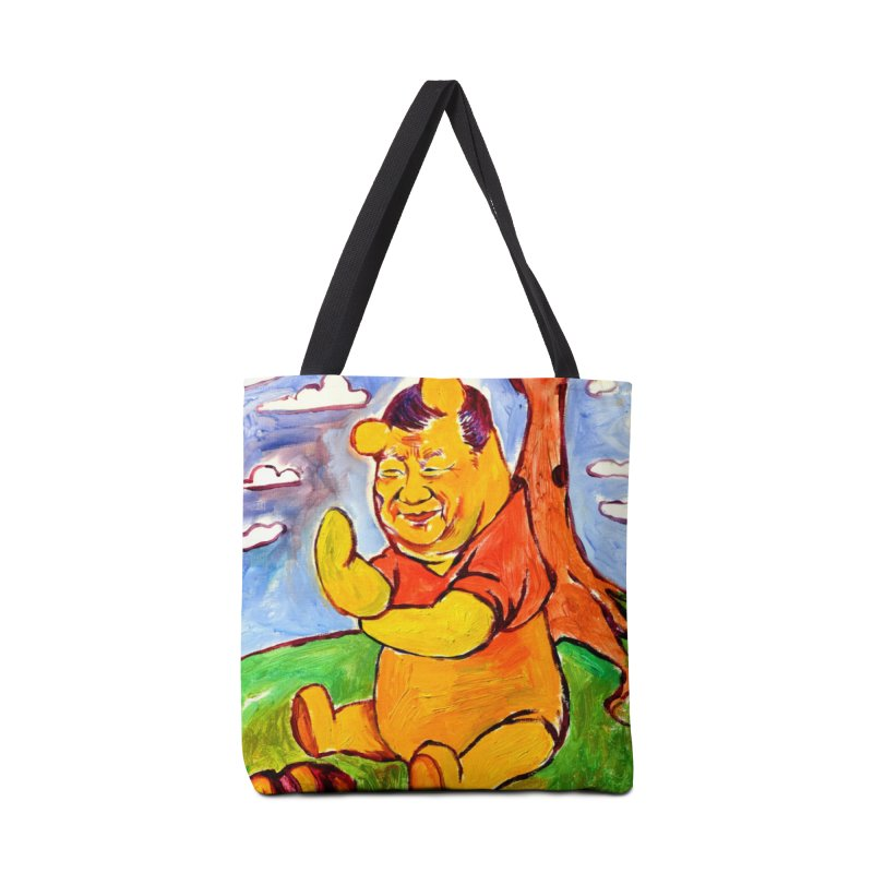 pooh Accessories Tote Bag Bag by paintings by Seamus Wray