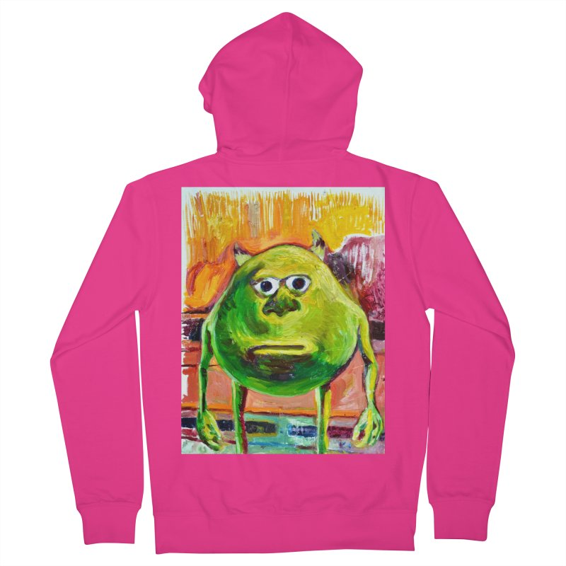 monsters inc Men's French Terry Zip-Up Hoody by paintings by Seamus Wray